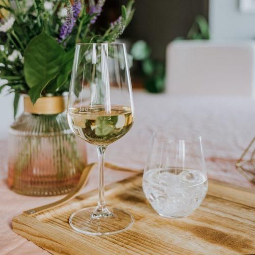 verre en cristal sans plomb renforcé au titane - verre à vin blanc 360ml et verre à eau 350ml - collection BRASSERIE - 1000x1000