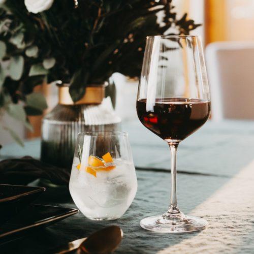 verre en cristal sans plomb renforcé au titane - verre à vin rouge 450ml et verre à eau 350ml - collection BRASSERIE - 1000x1000