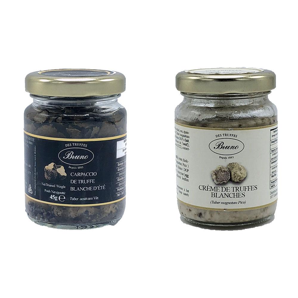 truffe blanche en carpaccio et crème