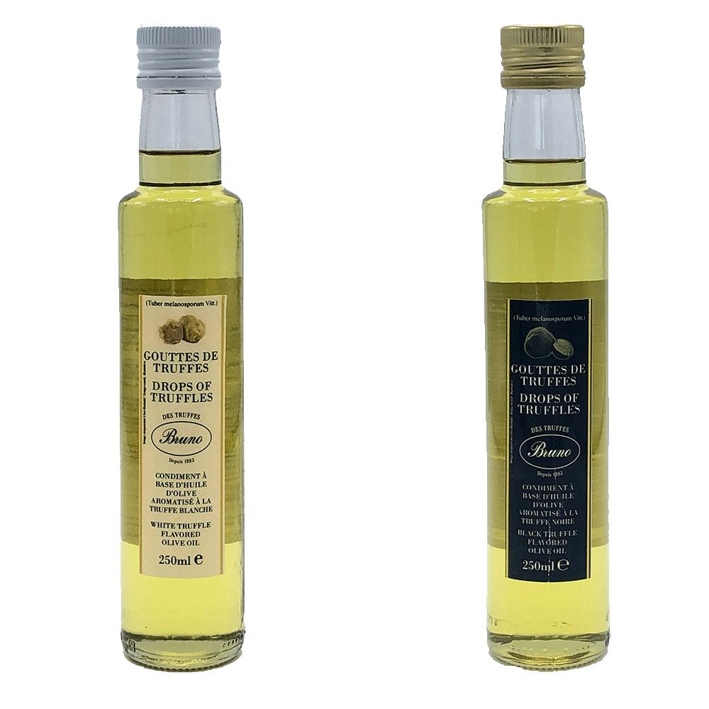 huiles aromatisées à la truffe - blanche & noire