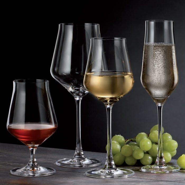 verre en cristal - collection alca - maison cyna