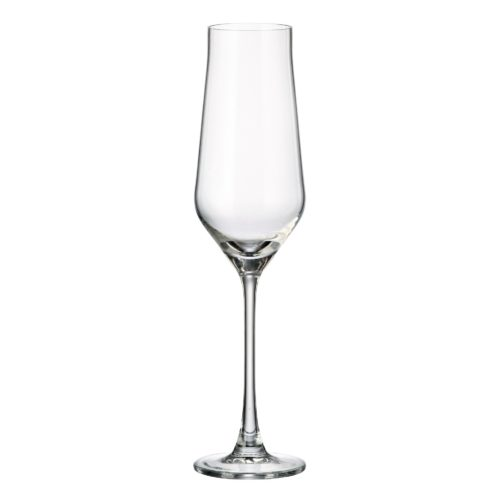 verre en cristal flute à champagne 220 ml - collection alca - maison cyna