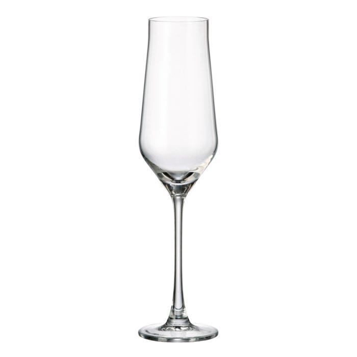 verre en cristal flute à champagne 220 ml - collection alca - maison cyna