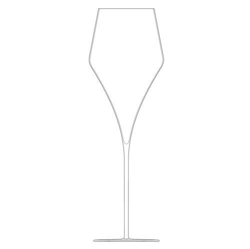 flute champagne n°2 cristal soufflé à la bouche - collection PALACE