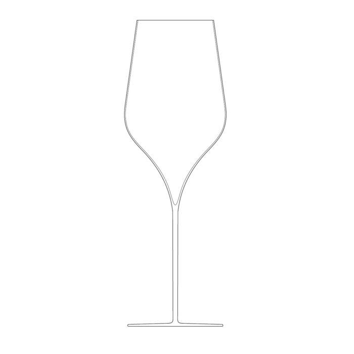verre à champagne en cristal de boheme soufflé à la bouche - collection PALACE